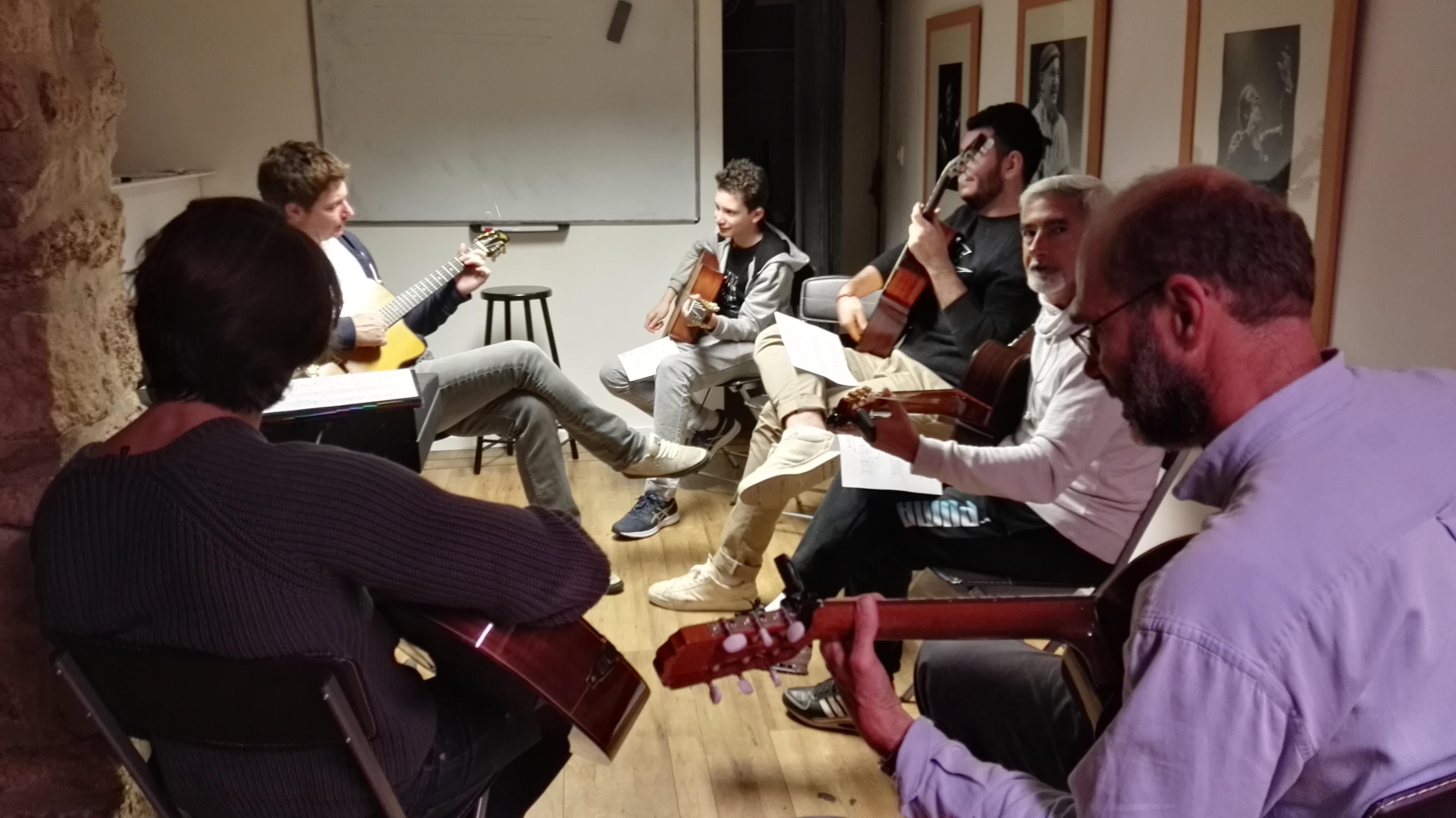 Cours de guitare amateur Swing Romane Académie